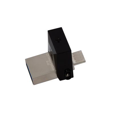 Kingston technology USB flash drive: DataTraveler 16GB microDuo 3.0 - Zwart