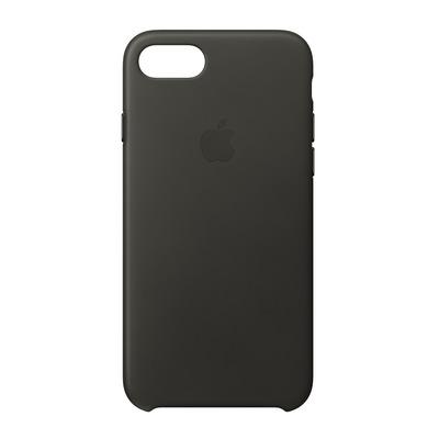 Apple mobile phone case: Leren hoesje voor iPhone 8/7 - Houtskoolgrijs - Kolen, Grijs