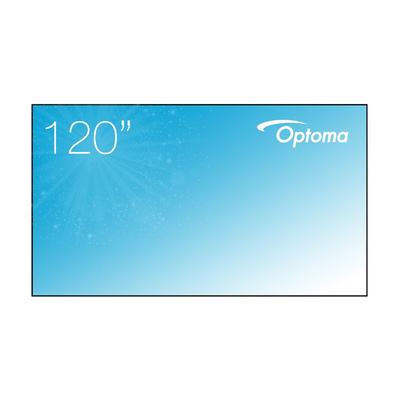 "Optoma 120"" fixed frame ALR projection screen, 16:9, Ambient Light Fabric, grey Projectiescherm - Grijs"