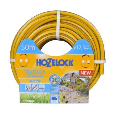 Hozelock tuinslang: Tricoflex Ultraflex slang Ø 12.5 mm 50 meter - Grijs, Geel