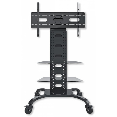 """Techly Trolley Floor Support with 2 Shelves LCD / LED / Plasma 32-70"""" TV standaard - Zwart"""