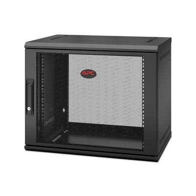APC NetShelter WX AR109SH4, 9U/HE, 19inch Wandpatchkast, Geschikt voor muurbevestiging, 400MM diep, Gemonteerd Rack .....