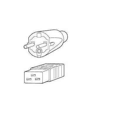 Fujitsu Power cord 16A IEC320 C20->CEE 7/7 Electriciteitssnoer