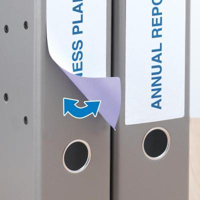 Herma etiket: Removable file labels, A4, 192x61 mm, White, 100 pcs. - Wit