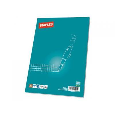 Staples schrijfblok: Schrijfblok SPLS A5 ruit 100 vel/pk 5