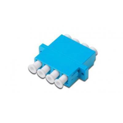 Assmann electronic fiber optic adapter: LC / LC Quad Coupler (4-port), Singlemode - Blauw