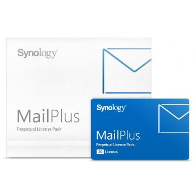 Synology MailPlus 20 Licenses softwarelicenties & -upgrades