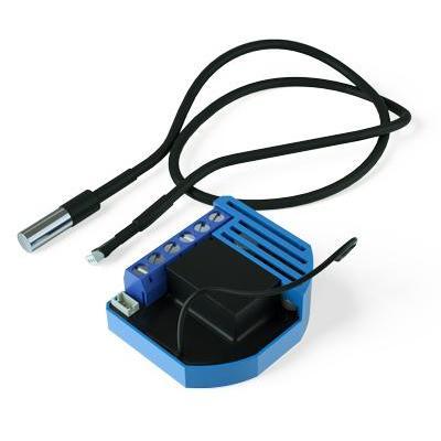 Qubino thermostaat: Flush On/Off Thermostat - Zwart, Blauw