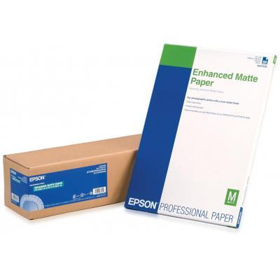 "Epson grootformaat media: Enhanced Matte Paper Roll, 24"" x 30,5 m, 189g/m²"