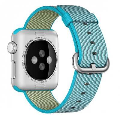 Apple : 38mm Scuba Blue Woven Nylon - Blauw
