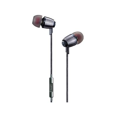 Lasmex ø 9.5 mm, 16 Ω, 20Hz - 20KHz, 93±3dB, 3.5mm, 3 Ear Buds Headset - Roestvrijstaal