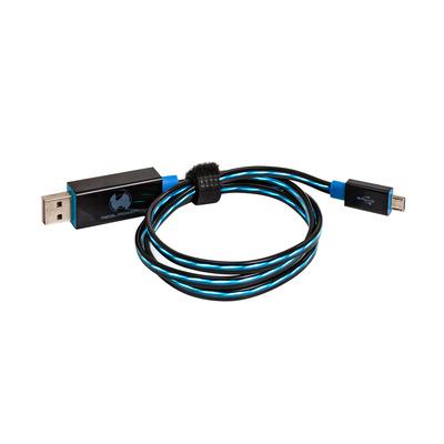 RealPower USB A/Micro-USB B 0.75m USB kabel - Zwart,Blauw
