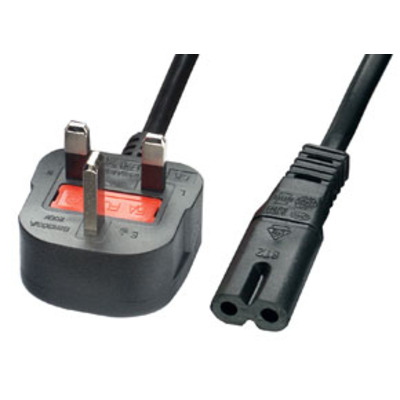 Lindy Power Cable, 2m Electriciteitssnoer - Zwart