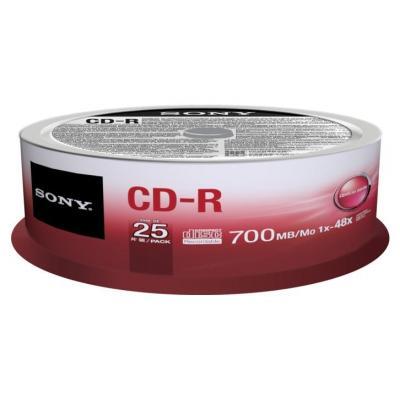 Sony 25 stuks-R van 700 MB, 80 min, in een grote kartonnen doos, voor grootverbruikers. Ideaal voor alledaags .....
