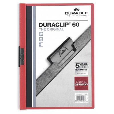 Durable Duraclip 60 Stofklepmap - Rood, Transparant