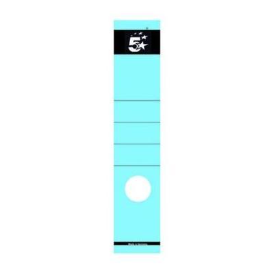 5star etiket: Rugetiketten 8 cm, lang, blauw, pak van 10