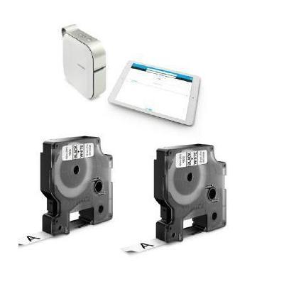Dymo labelprinter: Mobile labeler + 2x D1 tape  - Wit