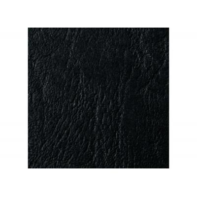Gbc binding cover: LeatherGrain Bindomslagen 250 grams Zwart (50)