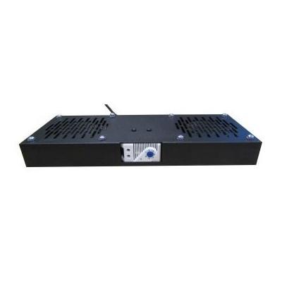 WP 2 FANS UNIT FOR RACK RWB SERIES, 2 FANS + THERMOSTAT,RAL9005 Cooling accessoire - Zwart