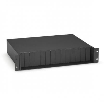 Black Box Pure Networking 14-Slot Rackmount Chassis Netwerkchassis - Zwart