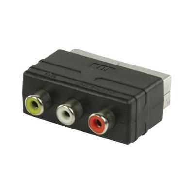 Valueline kabel adapter: SCART - RCA input adapter, male - Zwart