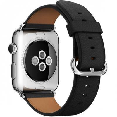 Apple : Zwart bandje, klassieke gesp, 42 mm