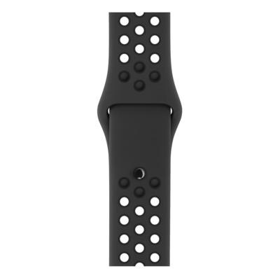 Apple : Antraciet/zwart sportbandje van Nike (38 mm) - Antraciet, Zwart