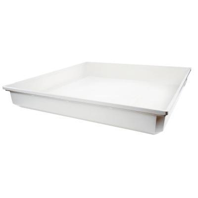 Hq keuken & huishoudelijke accessoire: Drip tray 70 x 70 x 10 cm - Wit