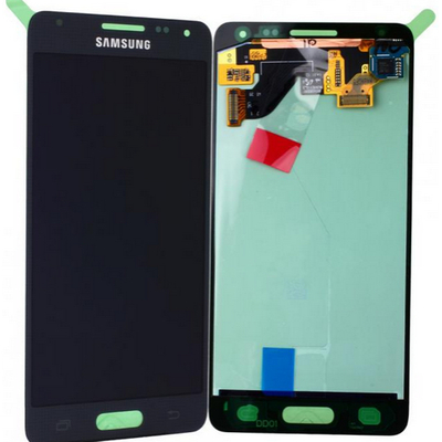 Samsung mobile phone spare part: SM-G850F Galaxy Alpha, Complete Display LCD+Touchscreen, black