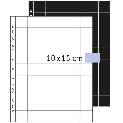 Herma showtas: Fotophan transparent photo pockets 10x15 cm landscape white 250 pcs. - Transparant, Wit