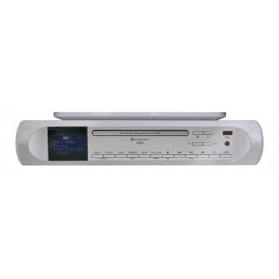Soundmaster CD-radio: Under Cabinet CD/MP3 Kitchen Music Centre with DAB+/FM Radio, 75 ohm Antenna jack, USB and Remote .....