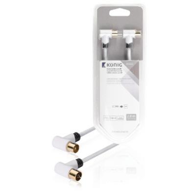 König KNS40020W20 Coax kabel - Wit
