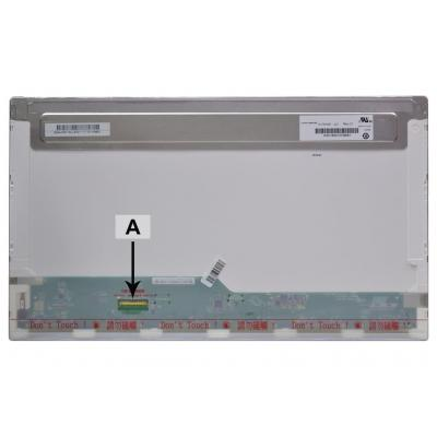 "2-power notebook reserve-onderdeel: 43.942 cm (17.3"") 1920x1080 Full HD LED Glossy - Zwart"
