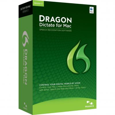 Nuance stemherkenningssofware: Dragon Dictate for Mac 3.0, EDU