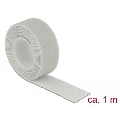 DeLOCK L 1 m x W 20 mm roll grey - Grijs