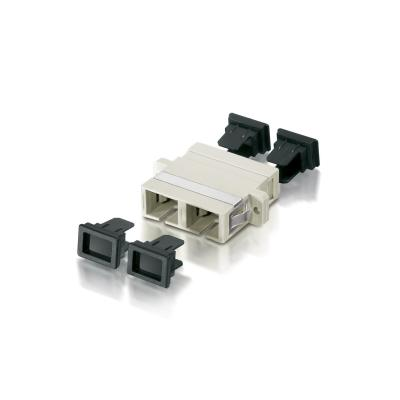 Equip SC/Coupler, OM1/OM2, OM1/OM2 Fiber optic adapter - Beige