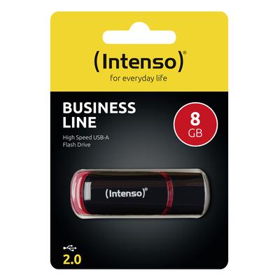 Intenso 8GB USB2.0 USB flash drive - Zwart, Rood