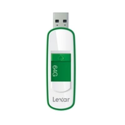 Lexar USB flash drive: JumpDrive S75 64GB - Groen, Wit