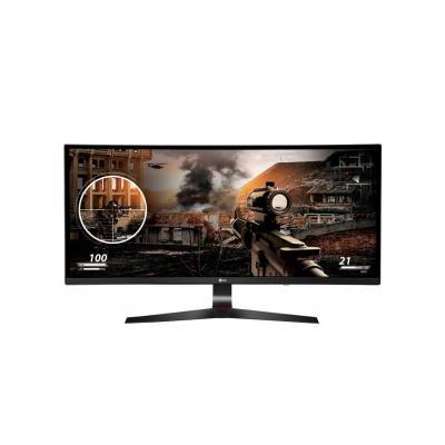 """Lg monitor: 86.36 cm (34 """") IPS, 2560 x 1080, 250 cd/m2, 21:9, 5ms, HDMI x 2, DisplayPort, USB 3.0 x 2 - Zwart, Rood"""