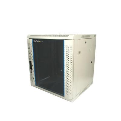 Startech.com rack: 12U 19in Hinged Wall Mount Server Rack Cabinet w/ Vented Glass Door - Beige