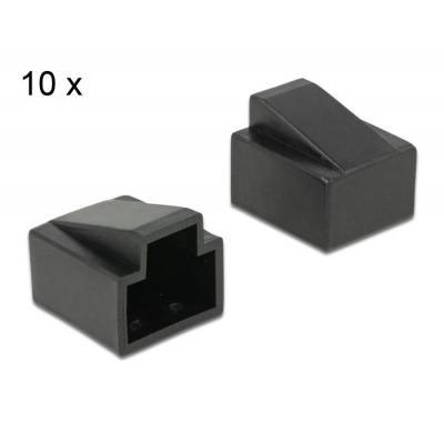 Delock kabelbeschermer: RJ45, 10x - Zwart