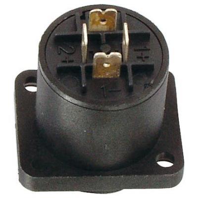 Valueline kabel connector: Speaker chassis square(4p) - Zwart