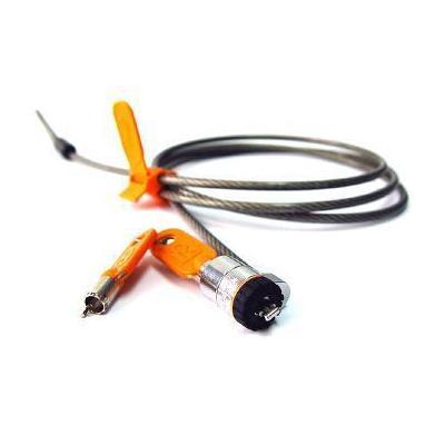 DELL Kensington Slim Microsaver-slot - nieuwe generatie (kit) Kabelslot - Oranje, Zilver