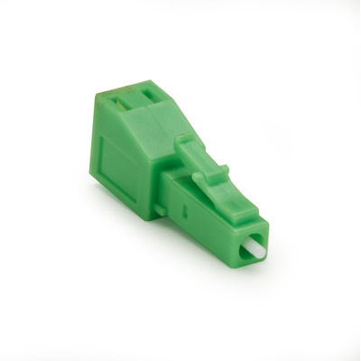 Black Box Fiber Optic In-Line Attenuator - Angled, Singlemode, LC-APC, 05-dB - Groen