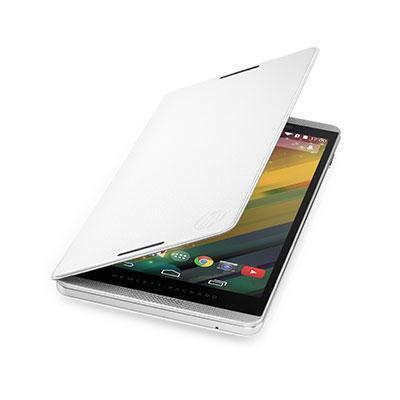 Hp tablet case: Slate 6 VoiceTab White Flip Cover - Wit