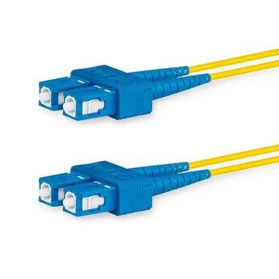 Lanview 2x SC - 2x SC, OS2, LSZH, 9 / 125 µm, Yellow, 1 m Fiber optic kabel - Geel