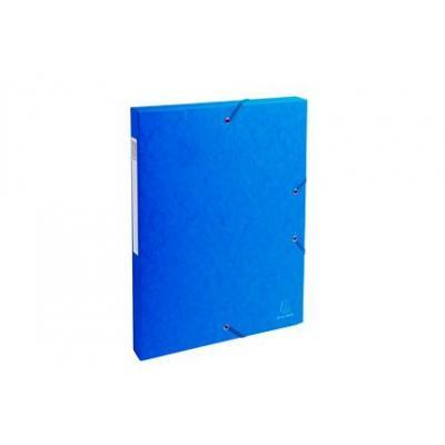 Exacompta archiefdoos: Archiefdoos Rug 25mm versterkt karton - A4 - Blauw