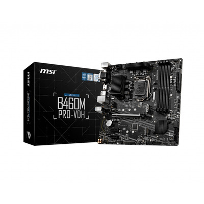 MSI Intel B460, LGA 1200, 4x DDR4, PCIe 3.0 x16, PCIe x1, HDMI, DVI-D, VGA, 1G LAN, SATA III, M.2, USB 3.2, mATX, .....