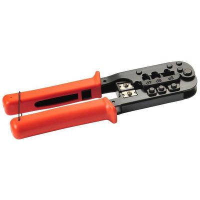 Lanview Crimping tool for RJ45/RJ12/RJ11 Tang - Zwart,Oranje