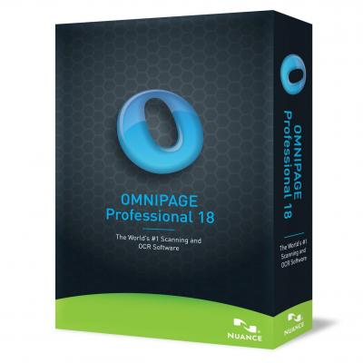 Nuance OCR software: OmniPage 18 Professional